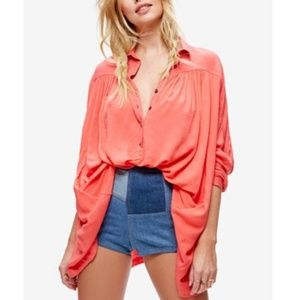 Free People Lovely Day Button Down Top (XS)